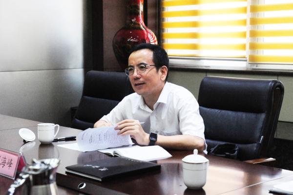 刘海峰同志到教育局调研工作图片